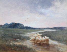 "James Walter Gozzard (British 1888-1950) ""A Showery Evening"", watercolour."