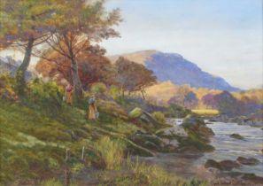 "Cyril Ward R.C.A. (British 1863-1935) ""A Sunny Morning, Autumn"", watercolour."