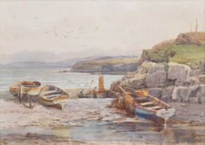 """Walter Eastwood (1866-1943) """"Moelfre Bay, Isle of Anglesey"""", watercolour."""