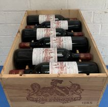 12 Bottles (in OWC) Chateau Cos d'Estournel Grand Cru Classe St Estephe 1985 (all b/n or above)