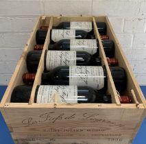 12 Bottles (in OWC) 'Les Fiefs de Lagrange' St Julien 1996 (11 hin, 1 i/n)