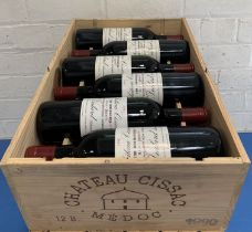 12 Bottles (in OWC) Chateau Cissac Cru Bourgeois Haut Medoc 1990 (all hin)