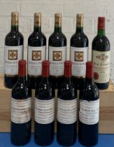 9 Bottles Mixed Lot Red Graves, Pomerol and St. Emilion