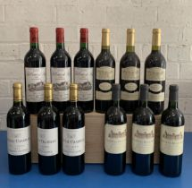 12 Bottles Mixed Parcel of fine Cru Bourgeois and Bordeaux Clarets