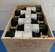 12 Bottles (in OWC) Chateau Haut Batailley Grand Cru Classe Pauillac 1995