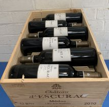 12 Bottles (in OWC) Chateau d'Escurac Cru Bourgeois Medoc 2010