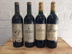 2 bottles Chateau Talbot Grand Cru Classe St Julien 1995
