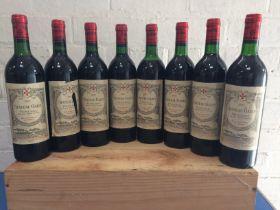 8 Bottles Chateau Gazin Grand Vin de Pomerol 1987 (7 b/n or above, 1 vts)