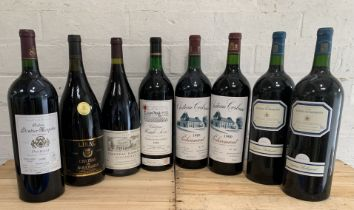 Collection of 8 Magnums from Bordeaux, Rhone Valley, Bergerac, Cahors and Pecharmant