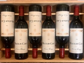 6 Bottles Baron Philippe de Rothschild 'Mouton Cadet' 1989