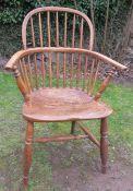 A 19th century Windsor chair