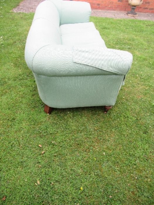 A Victorian Chesterfield, raised on short turned legs, width 76ins - Image 4 of 4