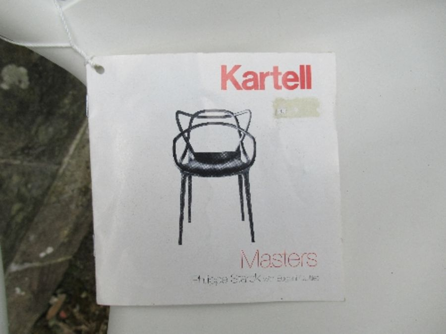 A white Kartell Masters armchair - Image 2 of 3