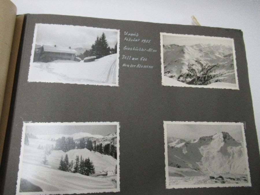 Two photograph albums, the inside front cover of one with World War 2 death notices for Karl - Image 11 of 12