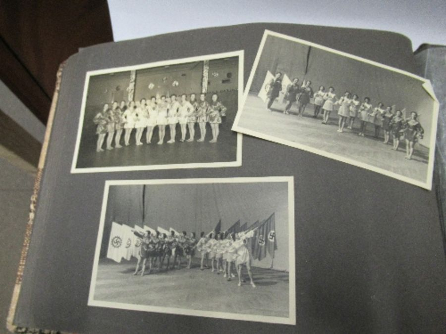 Two photograph albums, the inside front cover of one with World War 2 death notices for Karl - Image 7 of 12