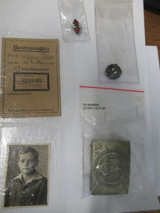 World War II, Hitler Youth ephemera relating to Wolfgang Volker, to include certificate of