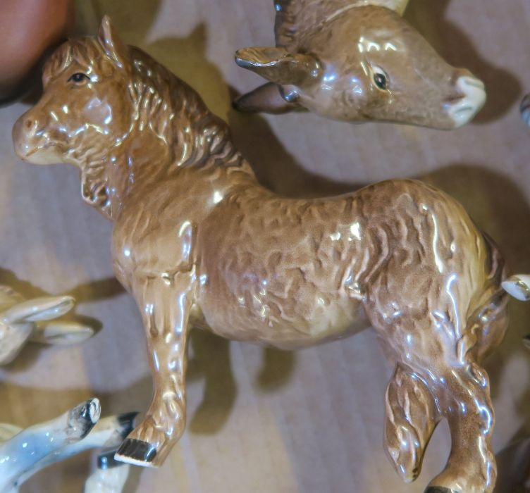 A collection of Beswick animals, to include donkeys, elephant , horses, sheep, Great Dane etc, - Image 4 of 5