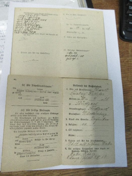 World War I and World War II, military and family documents for Freidrich Richter and his wife - Image 2 of 11