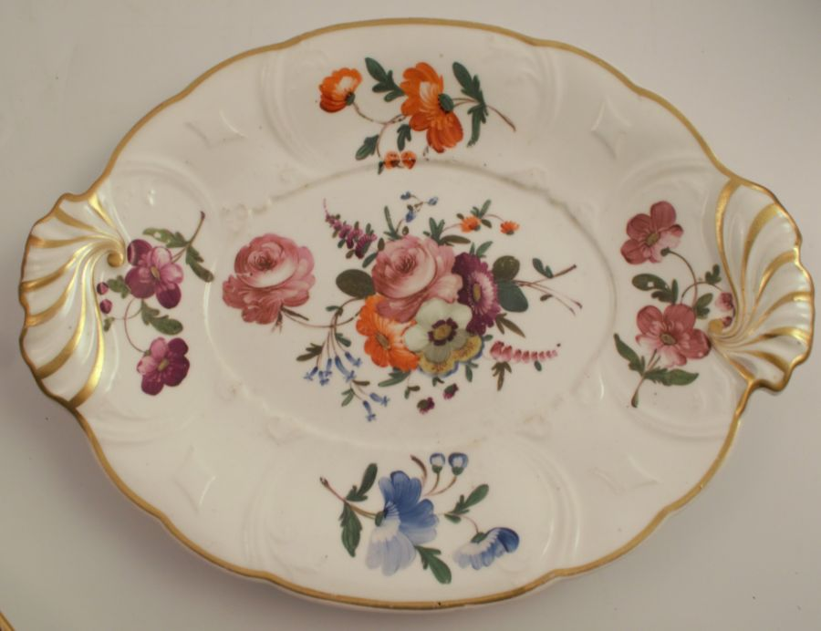 A 19th century Swansea plate, decorated with floral sprays, diameter 8ins, together with a 19th - Image 5 of 6