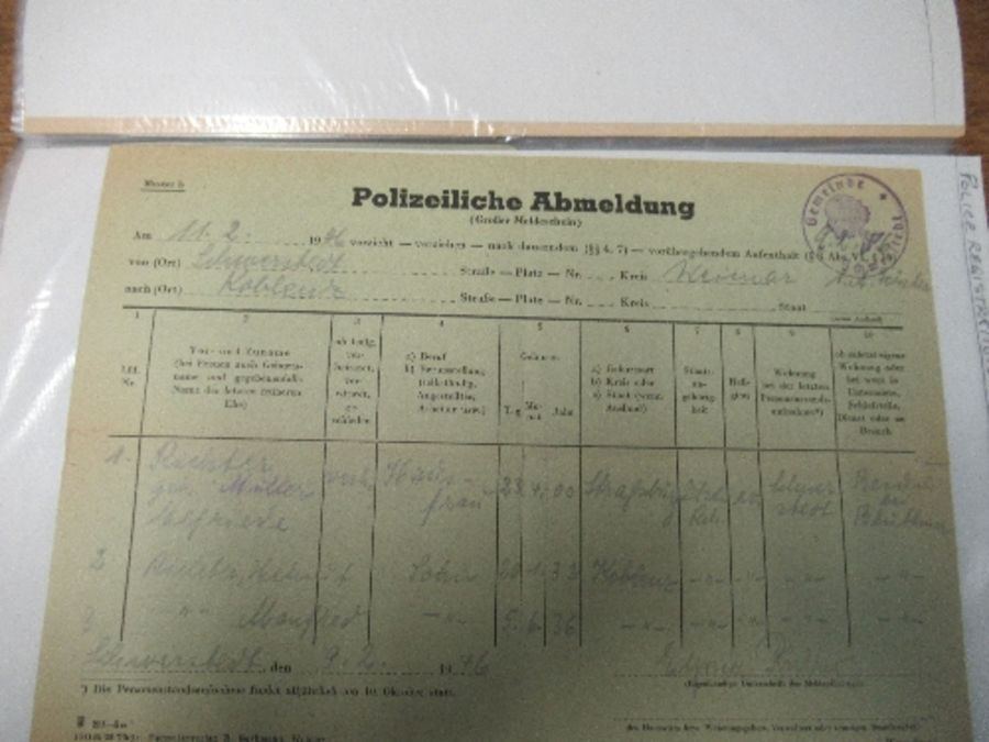 World War I and World War II, military and family documents for Freidrich Richter and his wife - Image 6 of 11