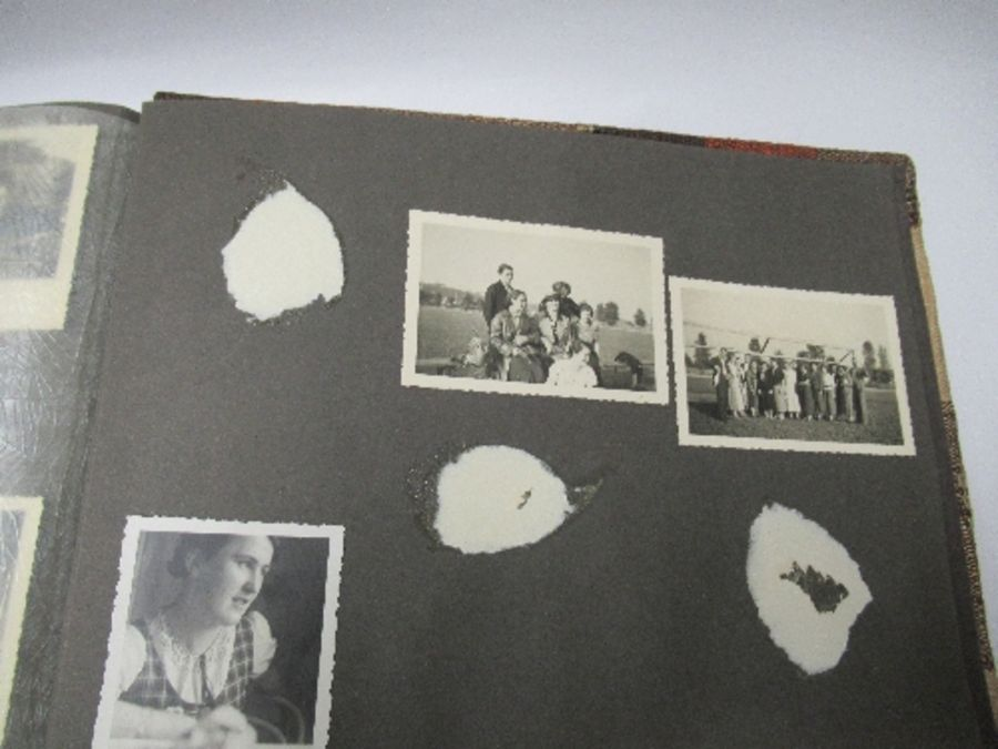 Two photograph albums, the inside front cover of one with World War 2 death notices for Karl - Image 8 of 12