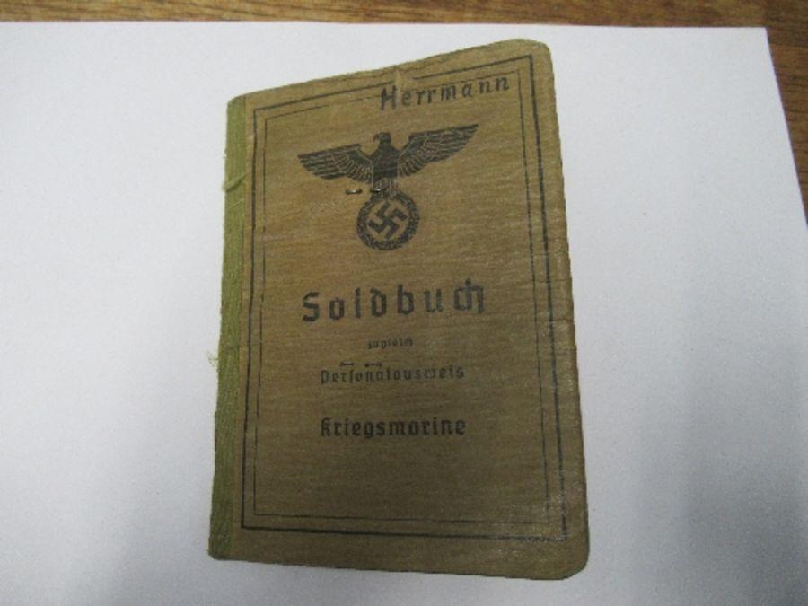 World War II, Kreigsmarine Soldbuch, belonging to Lance Corporal Machinist (Weapons Engineer) Arthur - Image 2 of 8