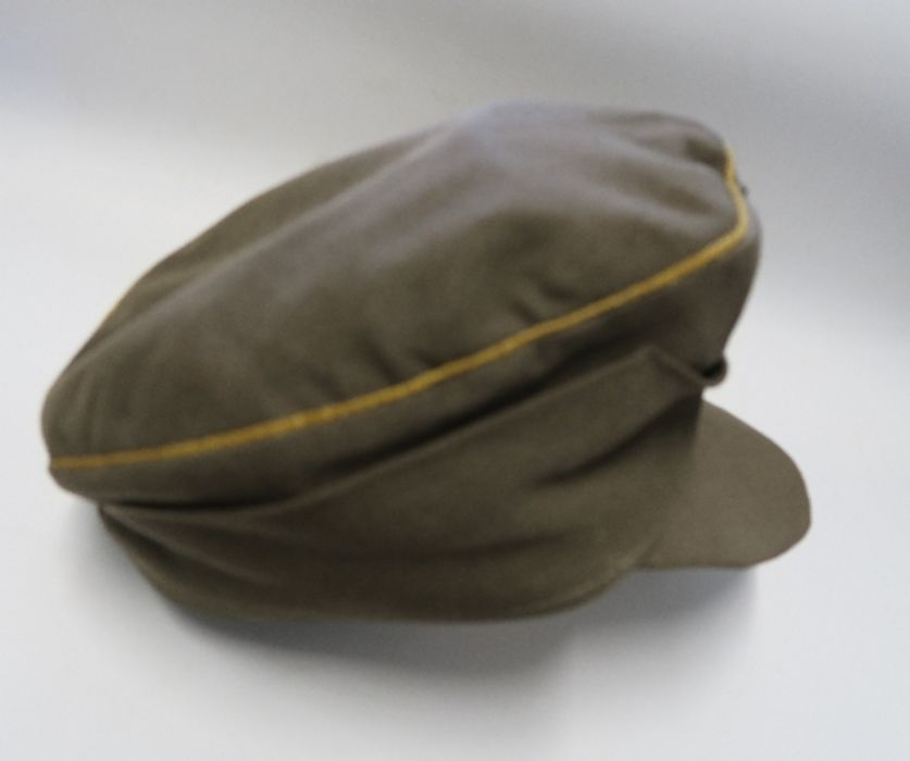 WW2 style German Luftwaffe M43 Winter Field Cap, in white sheepskin, together with a German Third - Image 7 of 9