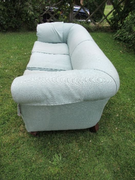 A Victorian Chesterfield, raised on short turned legs, width 76ins - Image 2 of 4