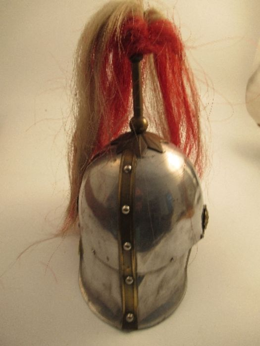A parade helmet, bearing the crest and plume of the London Regiment - Image 2 of 6