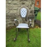 The Peacock Chair - a wrought iron rocking chair by Derek Lloyd FWCB