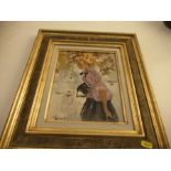 Grisot, oil on board, study of a girl, with label to the reverse , title 'Le Parisienne', 10.5ins