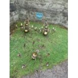 3 brass candelabra