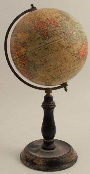 A Geographia Ltd six inch terrestrial globe, on a wooden stand