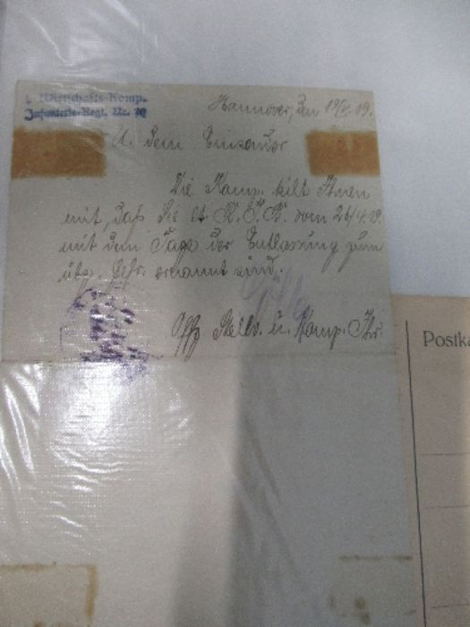 World War I and World War II, military and family documents for Freidrich Richter and his wife - Image 3 of 11