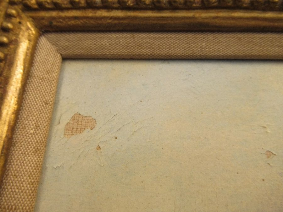 A pair of 19th school oil on canvas, signed C.Simms, beach scenes, with gallery label to the - Image 7 of 10