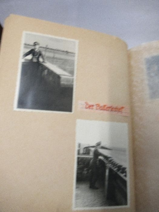 A World War 2 Luftwaffe document group, to include Third Reich style 1/611 photograph album with - Image 5 of 8