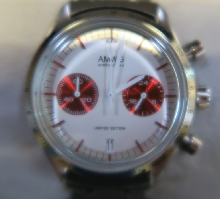 An AMWG Red Moon Chronograph stainless steel wrist watch, cased - Image 2 of 2