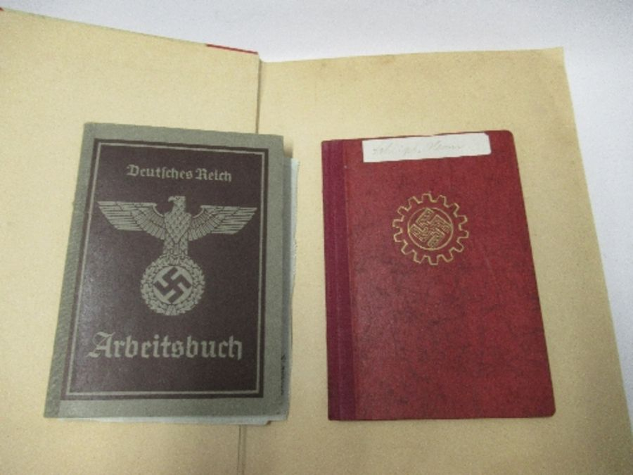 A World War 2 Luftwaffe document group, to include Third Reich style 1/611 photograph album with - Image 2 of 8