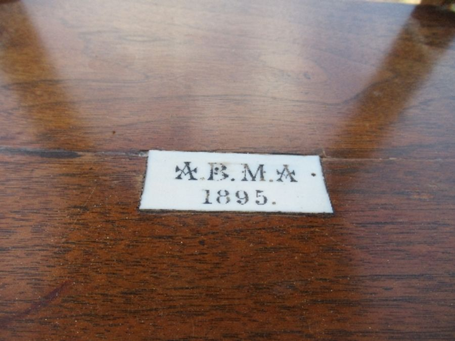 An Arts and Crafts style square topped side table, raised on outswept legs united by a shelf, - Image 2 of 4