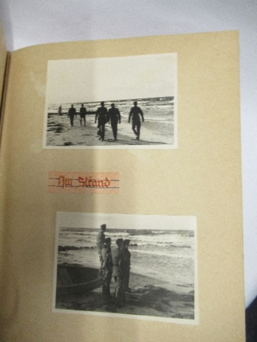 A World War 2 Luftwaffe document group, to include Third Reich style 1/611 photograph album with - Image 7 of 8