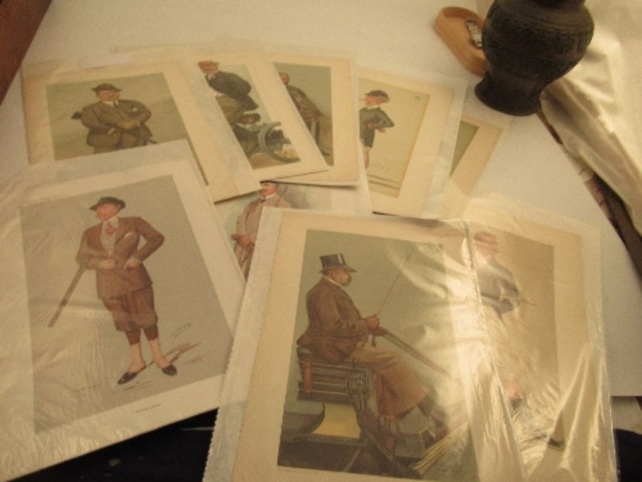 A collection of Vanity Fair prints, approximately 10