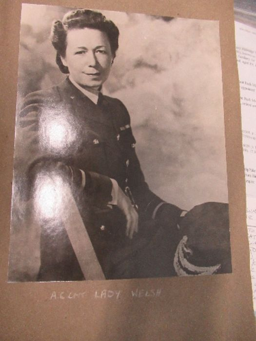 World War II, photograph / scrap album relating to Air Chief Commandant Dame Mary Welsh, from her - Image 2 of 6