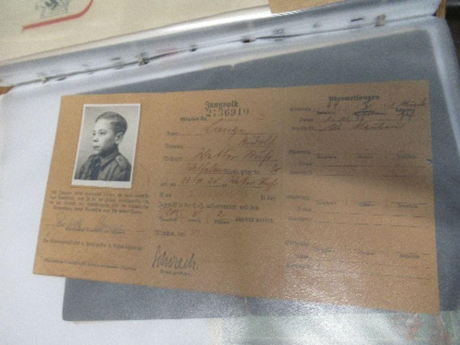 World War II, Hitler Youth ephemera relating to Fritz Jehring, to incude Youth Messenger armband, - Image 7 of 8