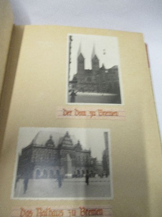 A World War 2 Luftwaffe document group, to include Third Reich style 1/611 photograph album with - Image 4 of 8