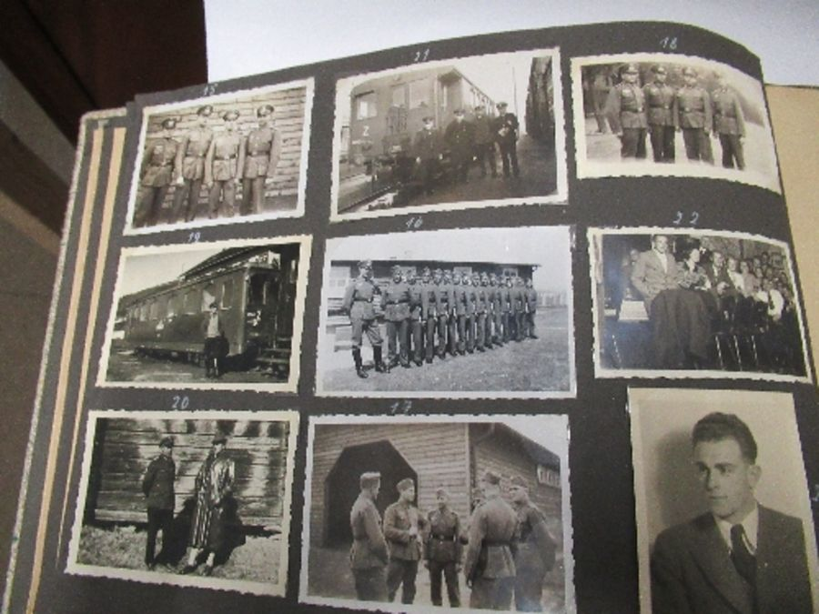 Two photograph albums, the inside front cover of one with World War 2 death notices for Karl - Image 10 of 12