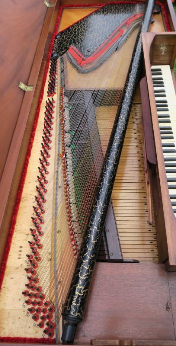 A 19th century mahogany cased square piano by William Stoddart - Image 3 of 6