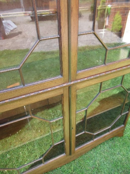 A Georgian design display cabinet, having astragal glazed doors to the upper and lower sections, - Image 5 of 5