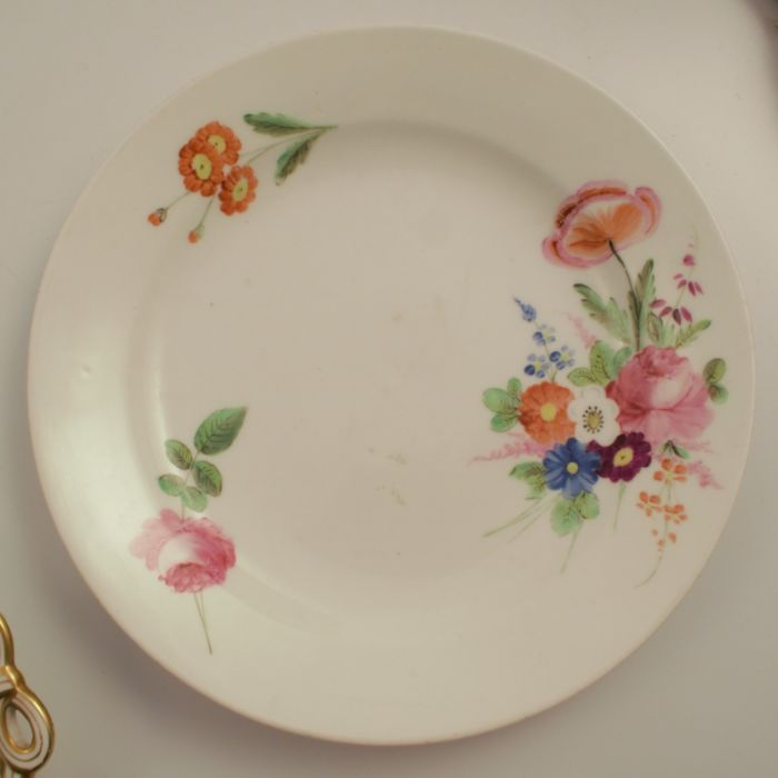 A 19th century Swansea plate, decorated with floral sprays, diameter 8ins, together with a 19th - Image 3 of 6