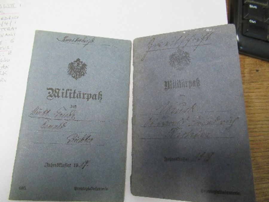 World War I and World War II, military and family documents for Freidrich Richter and his wife