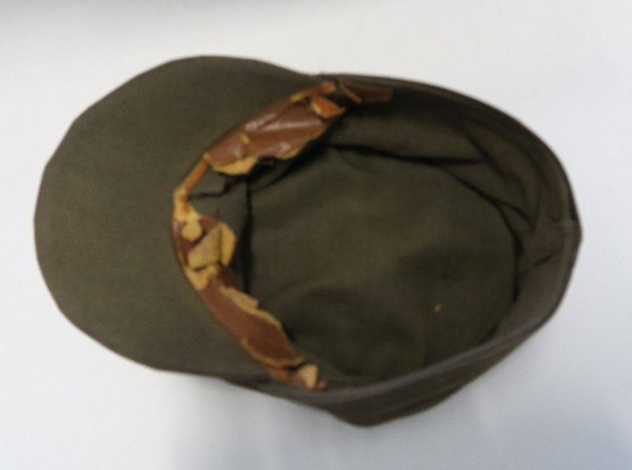 WW2 style German Luftwaffe M43 Winter Field Cap, in white sheepskin, together with a German Third - Image 9 of 9